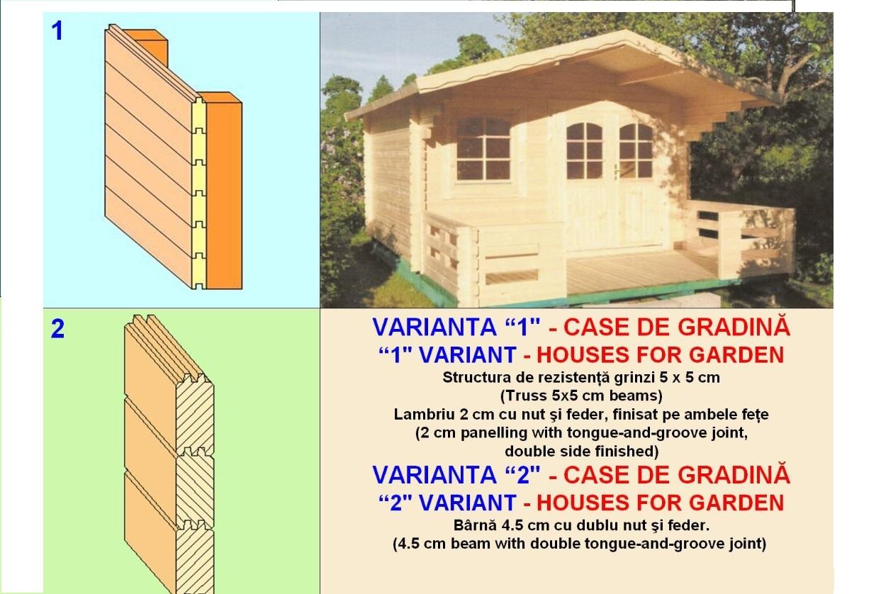 Structura si pret case lemn