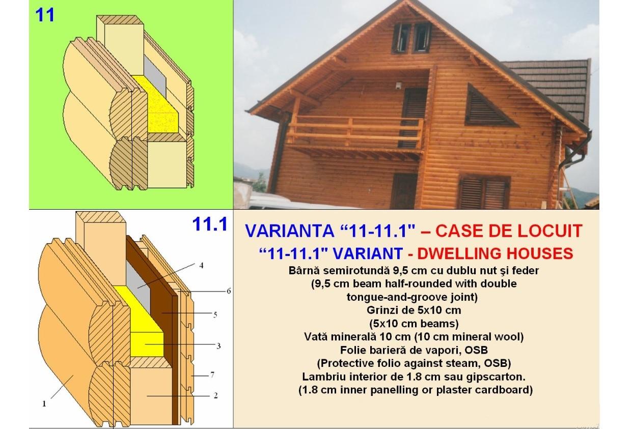 Structura constructie case de lemn